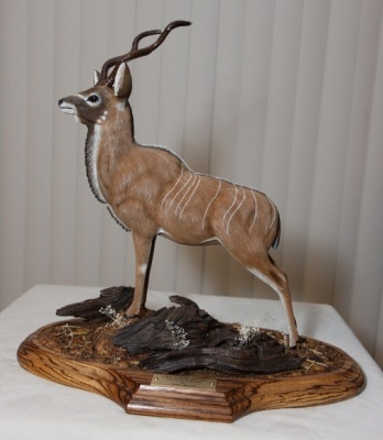 Greater Bull Kudu Bass wood carving