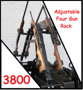 Sure Grip Racks 3800 Adjustable Four Gun & Bow Rack