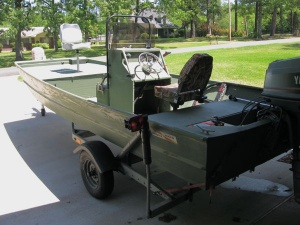 17' Center Console Alum Duck/Fishing Rig