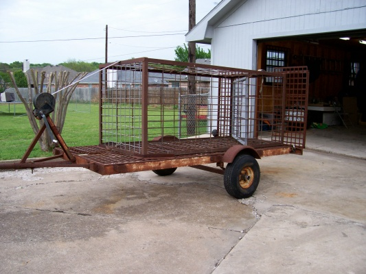Hog trap and trailer