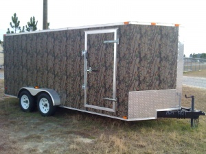 2009 New Enclosed 7X16 Camo Trailer